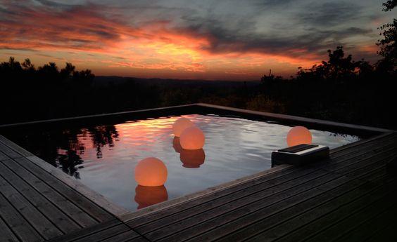 éclairage flottant piscine